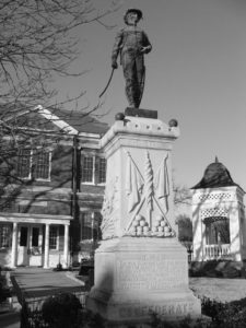 Tipton County's Confederate monument was erected on the south lawn of the courthouse in 1895 and honors all those who served in the Confederate Army.  Photo by Lamar.