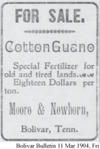 Cotton Guano from Moore & Newbern