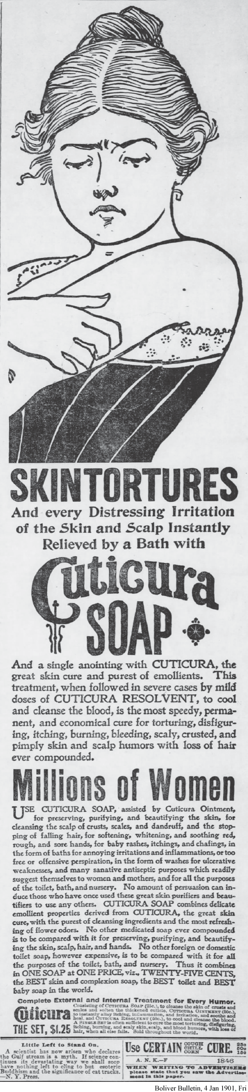 Cuticura Soap for skin tortures