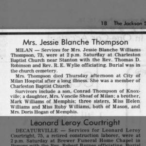 Thompson, Jessie Blanche
