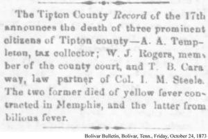 Templeton, Rogers and Caraway Obituary