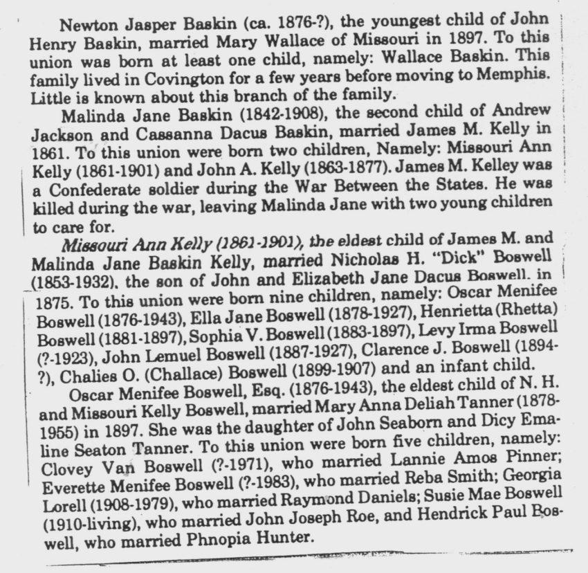 Baskin Family Heritage