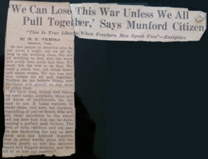 'We Can Lose This War Unless We All Pull Together', Says Munford Citizen