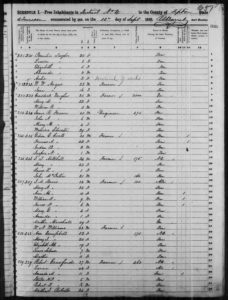 Census 1850 District 4 Tipton County Tennessee