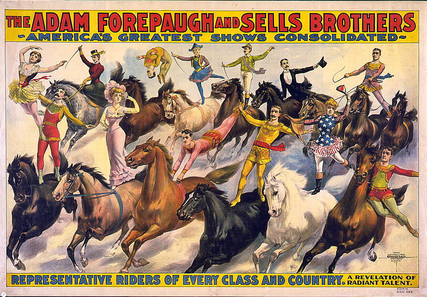 Adam Forepaugh and Sells Brothers Circus Poster