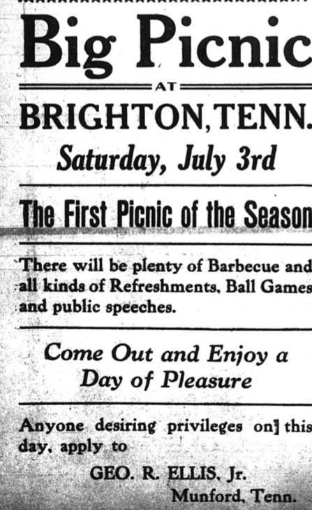 Big Picnic at Brighton 1920