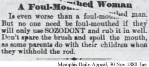 Cure for Foul Mouthed Woman