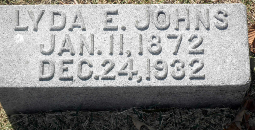 Lyda Ella Williams Johns Headstone