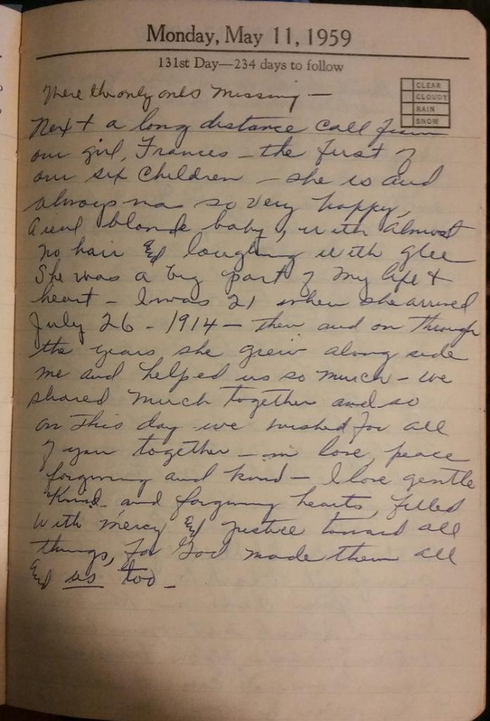 11 May 1959 - Mary Nichols