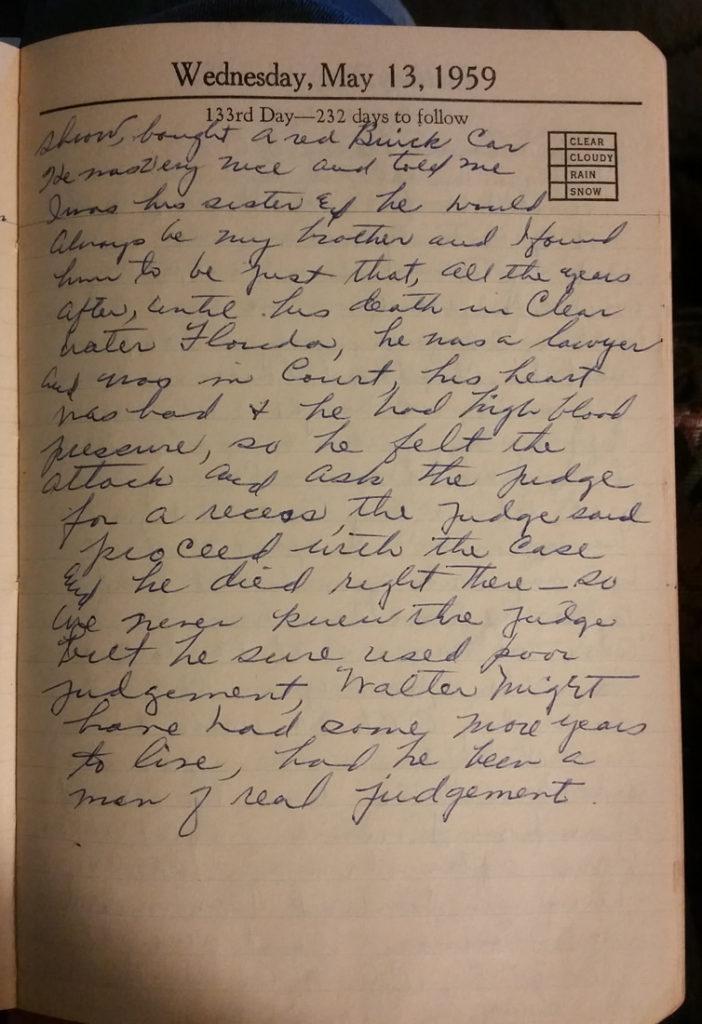 13 May 1959 - Mary Francis Piercy Nichols
