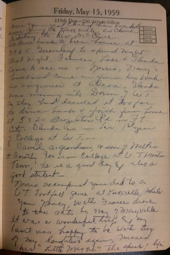 15 May 1959 - Mary Francis Piercy Nichols