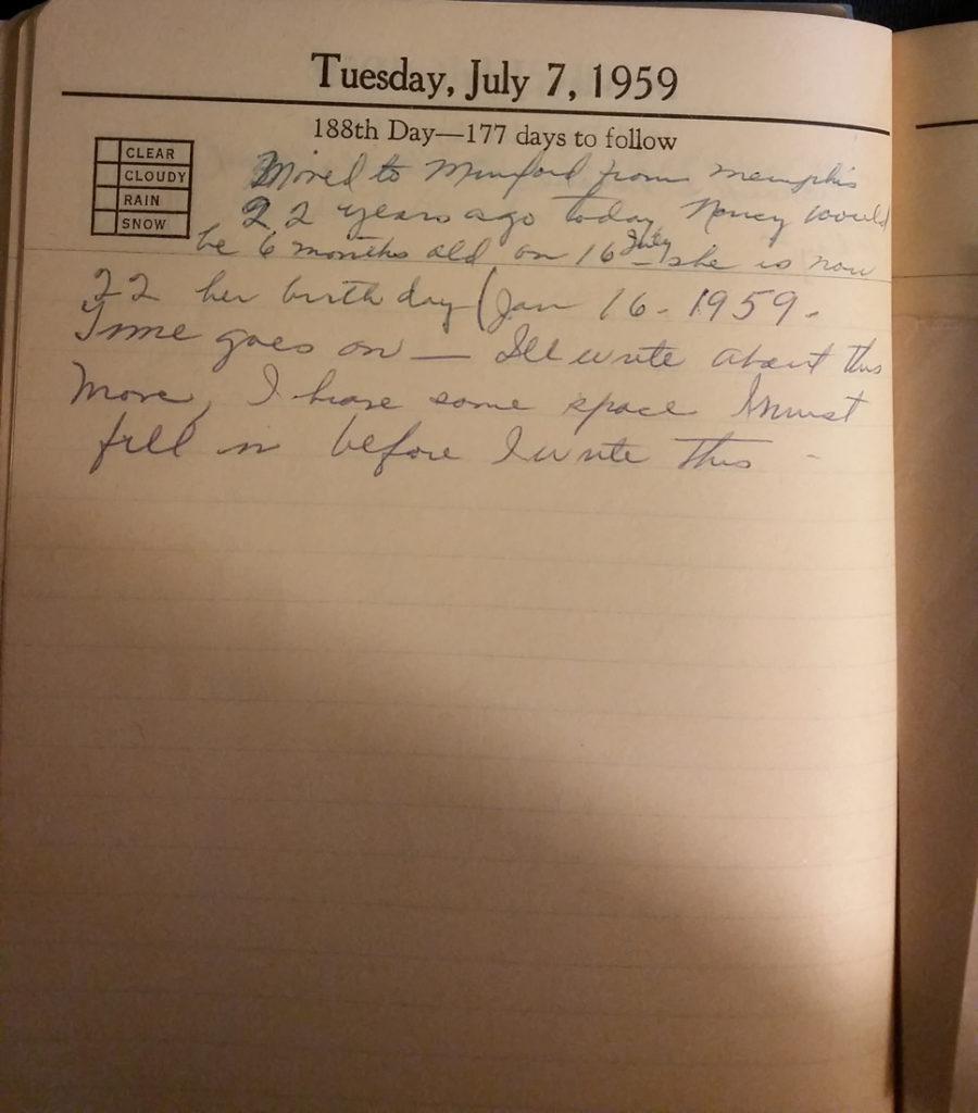 7 Jul 1959 - Mary Frances Nichols