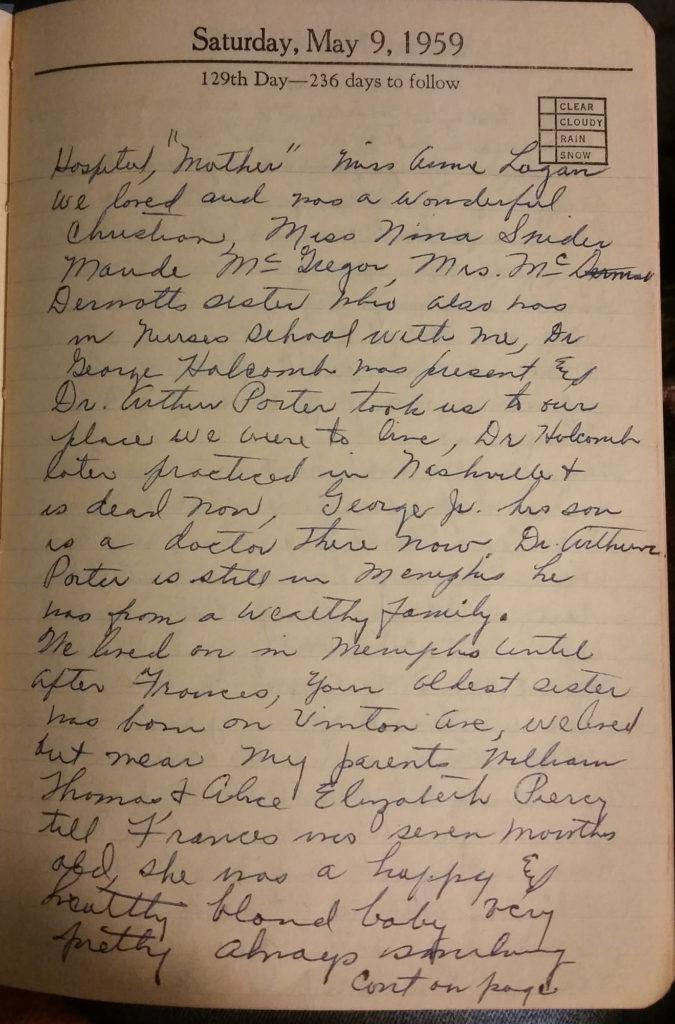 May 9, 1959 - Mary Frances Piercy Nichols