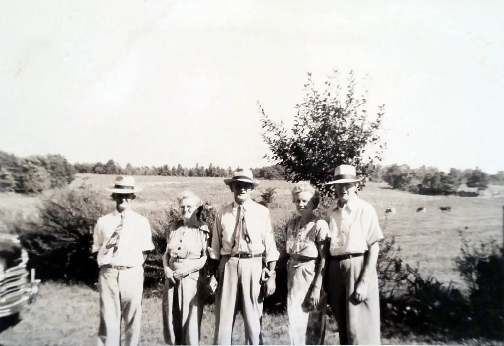 Nichols Brothers and Sisters - Uncle Alvie, Aunt Mat, Grandfather, Aunt Effie, and Uncle Walter Nichols